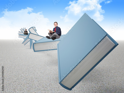 people on book