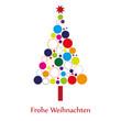 Bunter Weihnachtsbaum