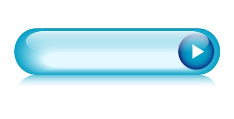 Blue web button (rectangular arrow vector gel contact)
