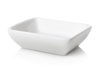 Empty white bowl isolated