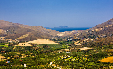 amazing view on Crete island, Greece