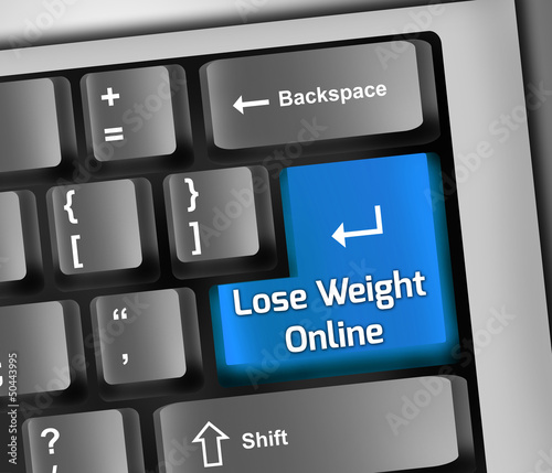 "Keyboard Illustration ""Lose Weight Online"""