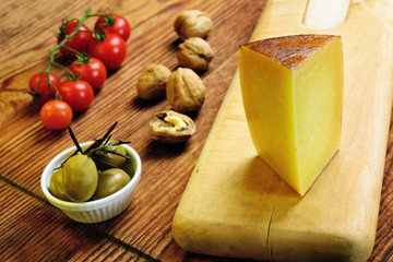 Pecorino toscano, italian sheep cheese, typical of Tuscany