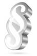Paragraph Icon 3D White/Silver