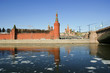 Moscow Kremlin on a sunny winter day, Russia