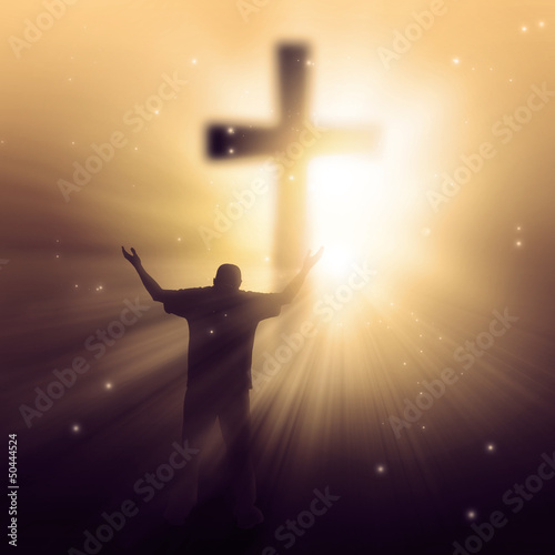 Sunbeams and cross