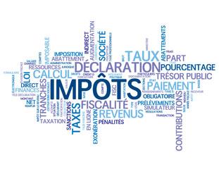 """Nuage de Tags """"IMPOTS"""" (argent impôts taxes finance banque)"""