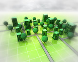 green city ortogonal structure background