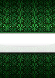 green secession pattern with blank text stripe vector poster