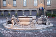 Bergamo - Fountain from Piazza Vecchia in winter morning