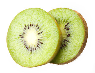 Sliced kiwi. Fruit on white background