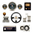 Vector car controls set