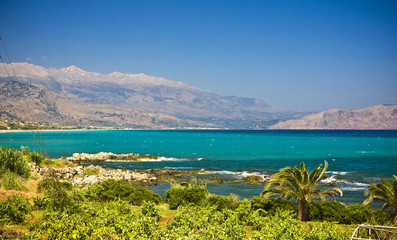 amazing landscape of Crete