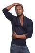 Portrait of a Black Male Fashion Model