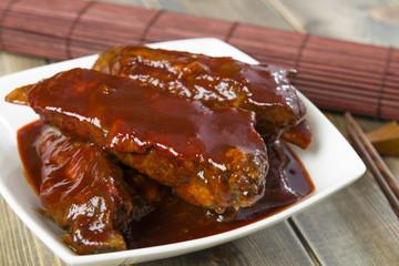 Char Siu - Chinese sticky pork spare ribs. Cantonese cuisine!