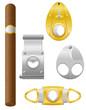 cigar and cutter vector illustration