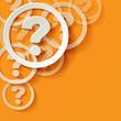 Hilfe Ecke Fragezeichen Frage Gelb Orange