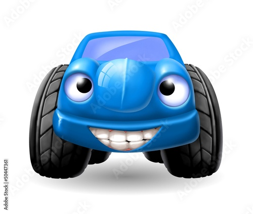 Foto op Canvas Cars macchinina blu