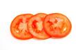 fresh tomatoes slice on a white background