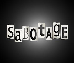 Sabotage concept.
