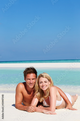 Couple Enjoying Beach Holiday