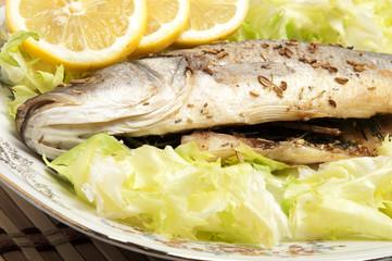 Roasted Sea Bass