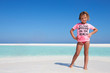 Young Girl Enjoying Beach Holiday