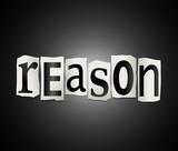 Reason concept. poster