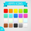Collection of color apps icons. Set 4.