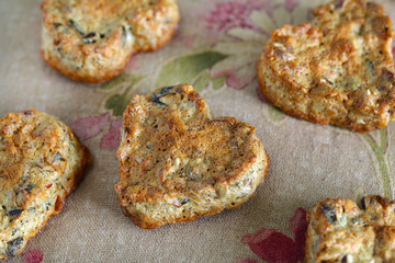 Gluten free cookies made of seeds, nuts and honey