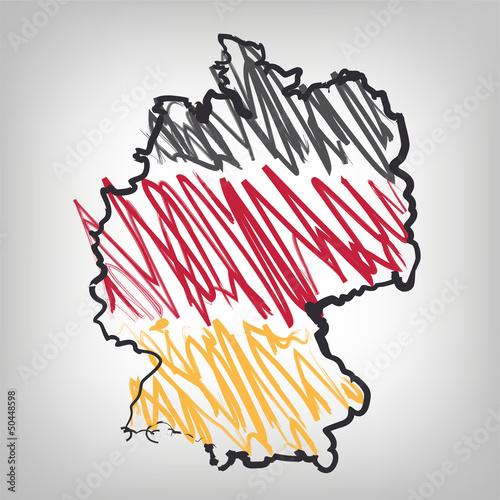 Deutschland Karte Skizze