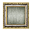 silver and gold frame with canvas interior