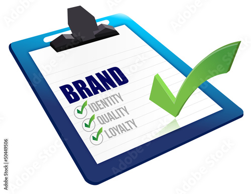 Identity, Quality and Loyalty checklist clipboard