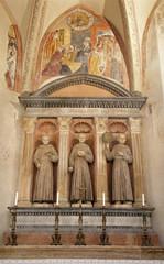 Verona - Altar of Medici chapel in San Bernardino