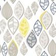 błękitne szare żółte liście nieregularny deseń na białym tle