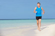 Senior Man Running On Beautiful Beach