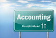 "Highway Signpost ""Accounting"""