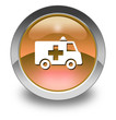 "Orange Glossy Pictogram ""Ambulance"""