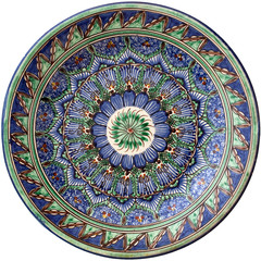 Middle east traditional round plate