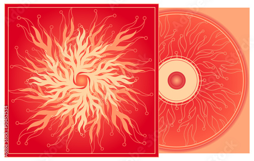 CD cover in red.