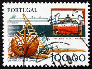 Postage stamp Portugal 1978 Shipbuilding Industry