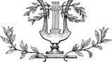 lyre with laurel branches