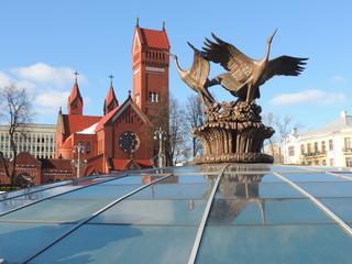 stork sculpture