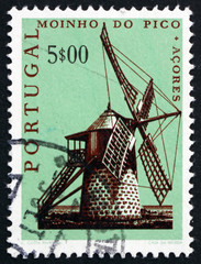 Postage stamp Portugal 1971 Windmill, Pico, Azores