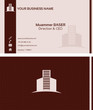 Real estate business card front and back