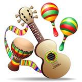 Guitar Maracas and Bongo-Chitarra Maracas e Percussioni