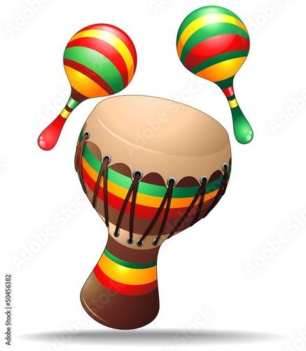 Bongo and Maracas Percussion Instruments-Strumenti Percussioni