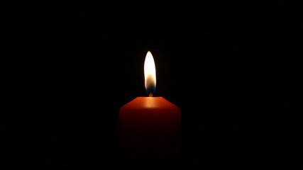 Candle With Black Blackground