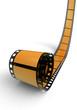 Blanko Filmrolle Orange 03