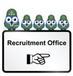 Army recruitment sign